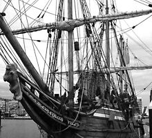 Old Sailing Ship BW by DavidsArt