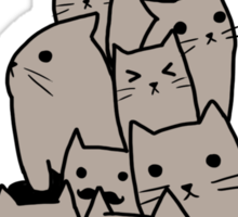 A lot of cats Sticker