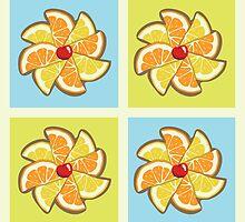 Citrus Pinwheel by mogencreative