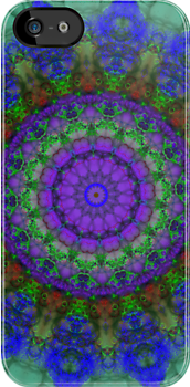 Purple Fantasy mandala pattern iPhone case by Vicki Field