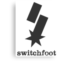 """Switchfoot """"S"""" Logo (Gray) Canvas Print"""