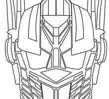 Optimus Prime Face Sketch by d124