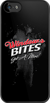 Windows Bites - Get a Mac!  | iPhone & iPod Case by Jim Felder