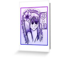 God is Dead Poster Greeting Card