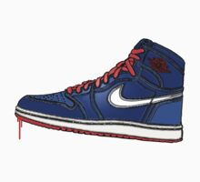 AIR JORDAN 1: BLUE GS RETRO FITTED by SOL  SKETCHES™