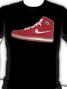 AIR JORDAN 1: RED GS RETRO FITTED T-Shirt