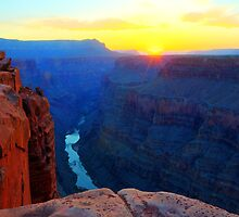 The Grand Canyon Sunrise At Toroweap by Bob Christopher