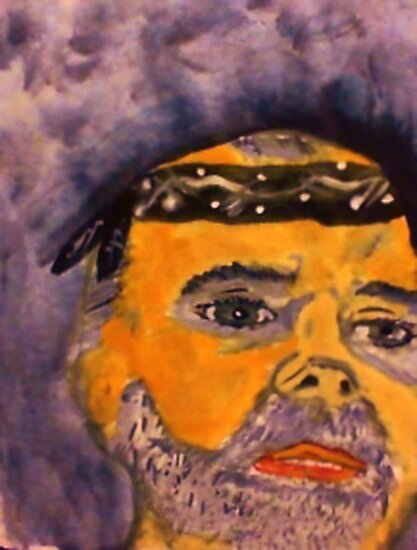 Rick in his do rag, watercolor by Anna  Lewis