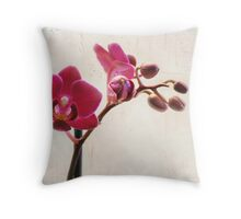 Mini Purple Phalaenopsis Orchid Throw Pillow