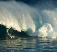 Surfing Jaws Maui Hawaii by Bob Christopher