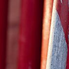 Abstract photo of red paint on scaffold by crazylemur