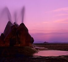 Fly Geyser Evening Light by Bob Christopher