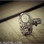 Gothic Steampunk Ring by SKAIOR Designs
