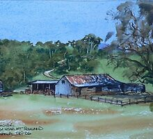 Farm Near Mt Rowland, Tasmania by ajnorthover