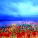 Poppies in the mist'... by Valerie Anne Kelly