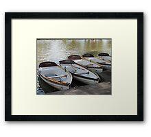 Stratford upon Avon boats Framed Print