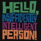 Hello Insufficiently Intelligent Person by DetourShirts