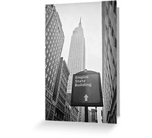 The Empire State Building, New York City Greeting Card