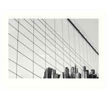 Manhattan from The Brooklyn Bridge, New York City Art Print