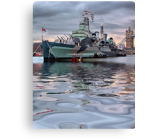 HMS Belfast At Twlight Canvas Print