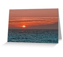 When The Sun Goes Down. Greeting Card