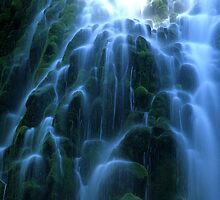 Proxy Falls Detail by Bob Christopher
