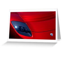 Frighteningly Red Tesla Greeting Card