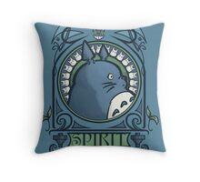 Forest Spirit Nouveau Throw Pillow