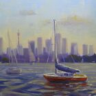City harbour boats  by Tash  Luedi Art