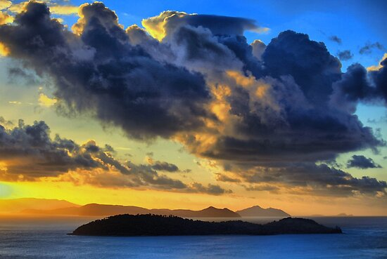 Storm Clouds over the Whitsundays by Jill Fisher