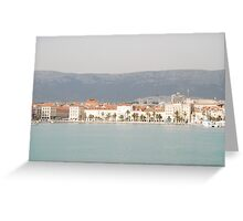 adriatic sea croatia split Greeting Card