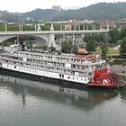 The Delta Queen from the Walnut Street Bridge by ack1128