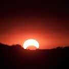 Sunset with Eclipse 5/20/2012 by Sherry Hallemeier