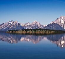 Jackson Lake And Grand Teton Range by Alex Preiss