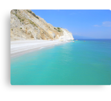 Skiathos Island, Greece - Lalaria Beach and Limestone Cliffs Canvas Print