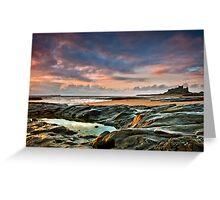 Dawn light at Bamburgh Greeting Card