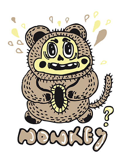 monkey by ecrimaga