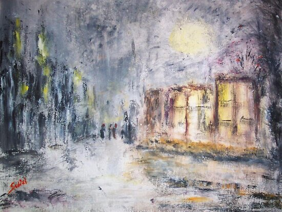 NIGHT IN THE SUBURBS  by Mary Sedici