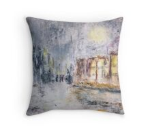NIGHT IN THE SUBURBS  Throw Pillow