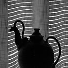The curtain, the blind & the teapot by Robyn Selem