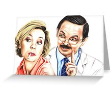 Green Wing's tragic lovers Greeting Card