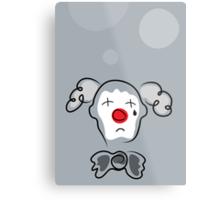 Portrait of a sad clown  Metal Print