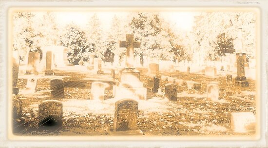 """THE CEMETERY""... a Series... #15,  Above all, the Cross by © Bob Hall"