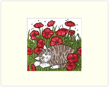 Poppy Snooze by Anita Inverarity