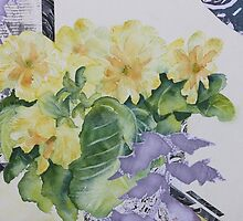Primrose's in spring  by Kay Clark