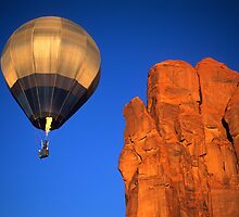 Hot Air Balloon Monument Valley 4 by Bob Christopher