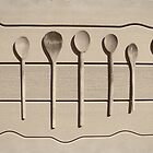 Seven Wood Spoons by Lisa Diamond