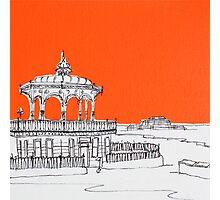 Brighton Bandstand & Pier ( Orange ) Photographic Print
