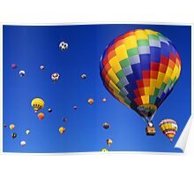 Hot Air Balloons Albuquerque Poster