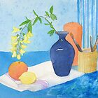 Blue vase by Sue Brown